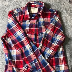 Men's Large Checkered Abercrombie Flannel Shirt
